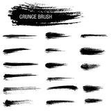 Vector set of grunge brush strokes Royalty Free Stock Photo