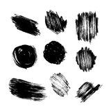 Vector set of grunge circle brush strokes Stock Image