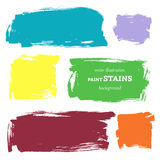Vector set of grunge paint stains. Vector illustration/ EPS 8 Royalty Free Stock Image