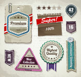 Vector set of grunge paper labels Royalty Free Stock Photo