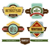 Grunge retro badges Stock Photos