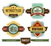 Grunge retro badges Stock Photos
