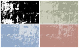 Vector set of grunge textures background. 4 Vector set of grunge textures background vector illustration