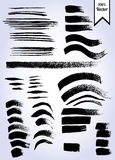 Vector set of grunge watercolor brush strokes Stock Images