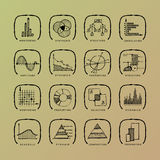 Vector set of grunge web icons stock photography