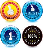 Vector set of guarantee label Stock Image