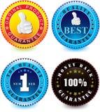 Vector set of guarantee label Stock Illustration