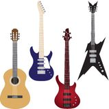 Vector set of guitars Royalty Free Stock Photos