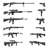 Vector set of guns icons Stock Images