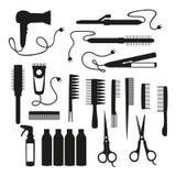 Vector set for hair salon vector illustration