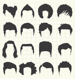 Vector Set: Hair Style Silhouettes Stock Photo