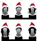 Vector set of hair style Xmas. Samples for woman Stock Photos
