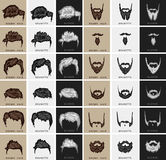 Vector set of hairstyles and beards Stock Images