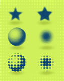 Vector set of halftone design elements Stock Photography