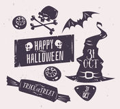 Vector set of halloween badges Royalty Free Stock Photos