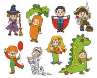 Vector set of Halloween children characters Stock Photography