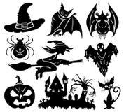 Vector set. Halloween. Vector set isolated on white background. Halloween Royalty Free Stock Photo