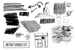 Vector set of hand drawn abstract doodles Stock Photo