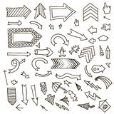 Set of hand drawn arrows. Vector set of hand drawn arrows Stock Photography