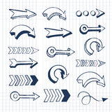 Vector set of hand drawn arrows Stock Photography
