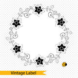 Vector set of hand drawn badges and elements. Stock Photography