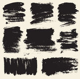 Vector set of hand drawn brush strokes and stains. Stock Images