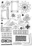 Set of hand drawn design elements. Vector set of hand drawn design elements Royalty Free Stock Photo