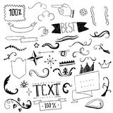 Set of hand drawn design elements. Vector set of hand drawn design elements Stock Photography