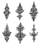 Vector set of hand drawn doodle abstract design pattern elements Royalty Free Stock Photos