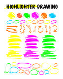 Vector set of hand drawn doodle elements. Royalty Free Stock Photography