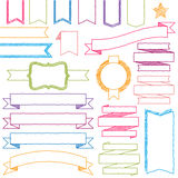 Vector Set of Hand Drawn Doodle Web Design Element Royalty Free Stock Photo