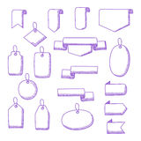 Vector Set of Hand Drawn Doodle Web Design Elements Stock Photos