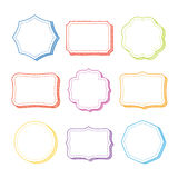 Vector set of hand drawn frames. Vector set of hand drawn colorful frames Stock Images