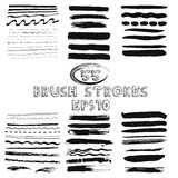 Vector set of hand drawn grunge brush strokes Stock Image