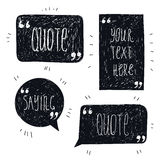 Vector set of hand drawn quote bubbles, space Stock Image
