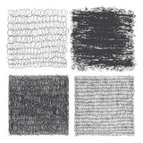 Vector set of hand drawn squares. Sketch, set of textures. Eleme Royalty Free Stock Photo