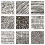 Vector set of hand drawn squares. Sketch, set of textures. Eleme Stock Photos