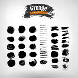 Vector set hand-drawn strips for textured grunge background Royalty Free Stock Photography