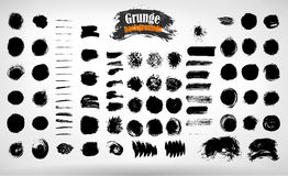 Vector set hand drawn strips for textured grunge background Stock Photos