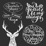 Vector set of hand drawn unique typography design elements royalty free illustration
