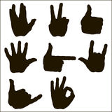 Vector set of hand gesture Royalty Free Stock Photography