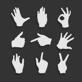 Vector Set Hand Symbols. Eps 8 file format Royalty Free Stock Photo