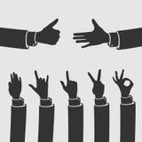 Vector Set Hand Symbols. Eps 8 file format Stock Images