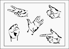 Vector set of hands Stock Images
