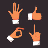Vector set hands. Icons set vector illustration Stock Illustration