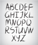 Vector set of handwritten font Royalty Free Stock Image