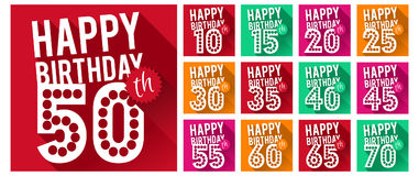 Vector Set of Happy Birthday Symbols. Birthday Collection. Eps10 Vector Royalty Free Stock Image
