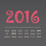Vector set happy new year 2016 design.  Stock Photography