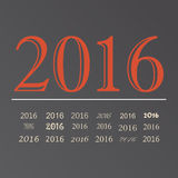 Vector set happy new year 2016 design.  Royalty Free Stock Image