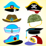 Vector set of hat Royalty Free Stock Photos
